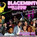 AFFICHE BLACKMINTON ANNEES 80